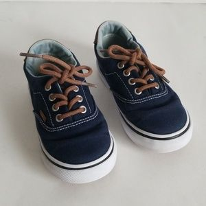 Van's Toddlers Canvas Lace Up Shoes Size T9